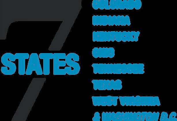 7 States - Colorado, Indiana, Kentucky, Ohio, Tennessee, Texas, West Virginia, and Washington D.C.