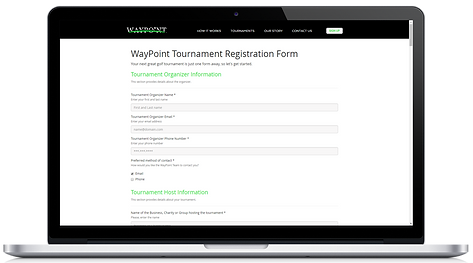wayypointgolf, waypoint, golf tournament registrations