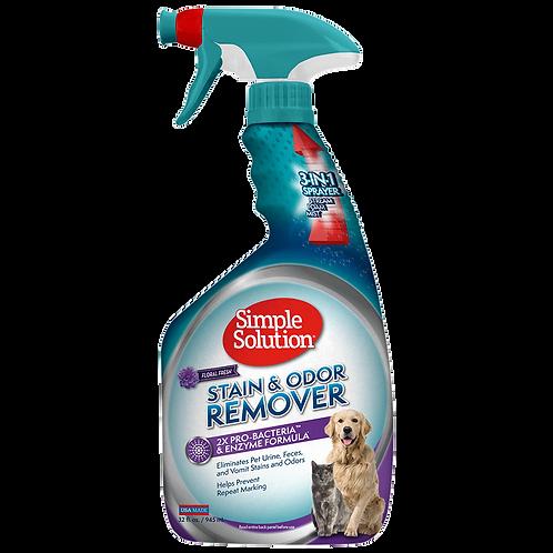 "Simple Solution Pet Stain and Odor  מנטרל ריחות ומסיר כתמים בניחוח פרחים 945 מ""ל"