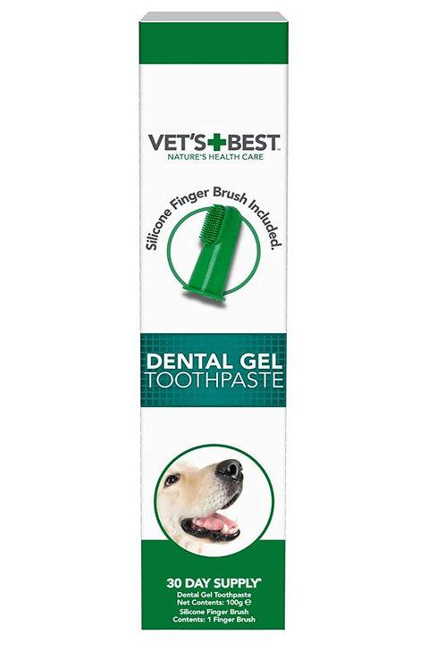 ווטס בסט דנטל ג'ל Vet's Best Dental Gel Toothpaste for Dogs, 100 g