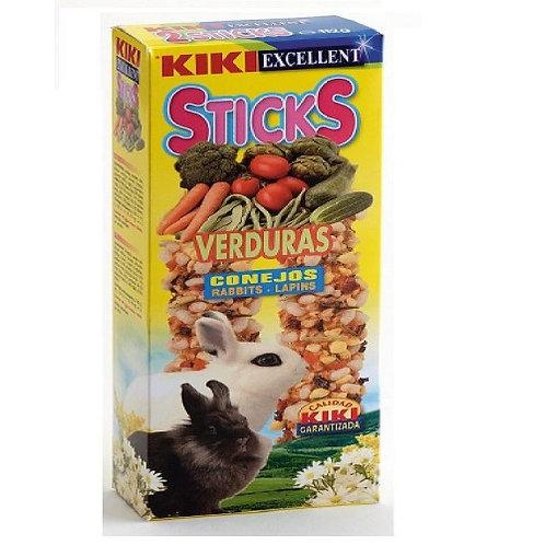 קיקי זוג מקלות חטיף עם ירקות לארנב 112 גרם Kiki Sticks Vegetables For Rabbits
