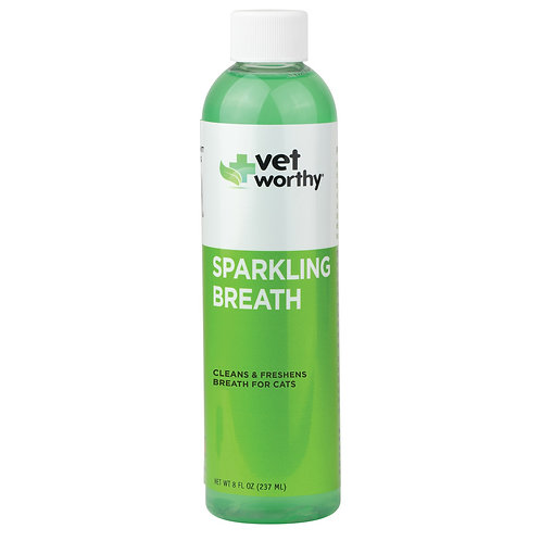"Sparkling Breath for Cats Vet worthy נוזל לשטיפת פה החתול 237 מ""ל"