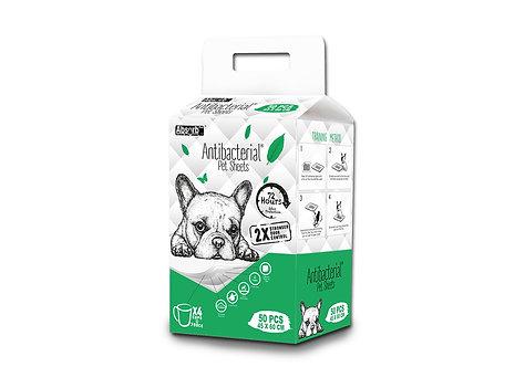אבסורב 50 יחידות פדים אנטיבקטראליים absorb antibacterial pet sheets