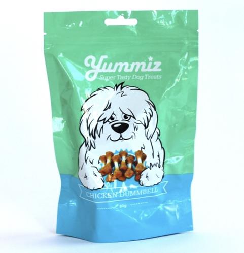 יאמיז לכלב משקולות עוף 80 גרם yummiz chicken dumbell