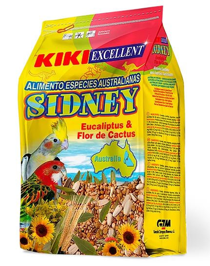 קיקי מזון לתוכים אוסטרליים (סידני) 800 גרם Alimento especies Australianas