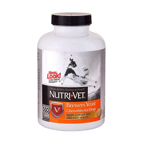 Nutri-Vet Brewers Chewables כדורי שמרים ושום 500 יחידות לכלב