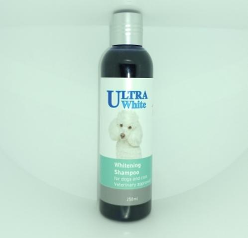 """אולטרה שמפו הלבנה לכלבים וחתולים 250 מ""""ל Ultra white whitening shampoo for dogs"""