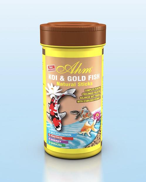 """מזון לדגי ברכה במבה 1000 מ""""ל KOI & GOLD FISH FOOD"""