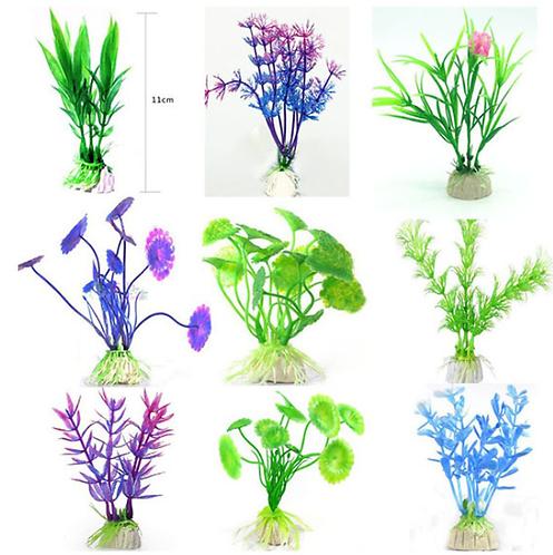 צמחים צבעונים מפלסטיק לאקווריום Plastic plant for aquarium