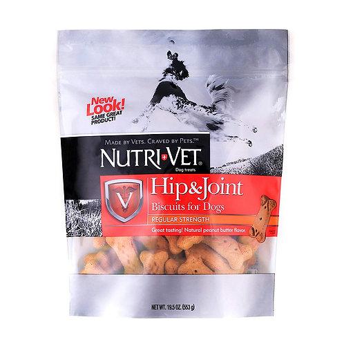 ביסקוויט לחיזוק מפרקים לכלב 560 גרםםNutri Vet Hip & Joint Peanut Butter Biscuits