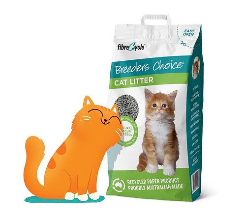 מצע נייר דחוס ואיכותי לחתול 10 ליטר Breeders Choice CAT LITTER