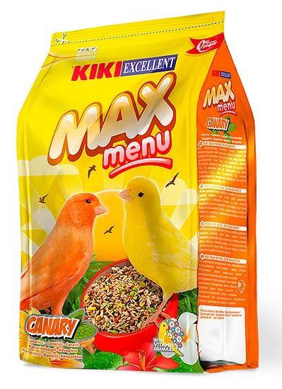 """קיקי מזון כנרים משובח 1 ק""""ג kiki max menu complete food for canaries"""