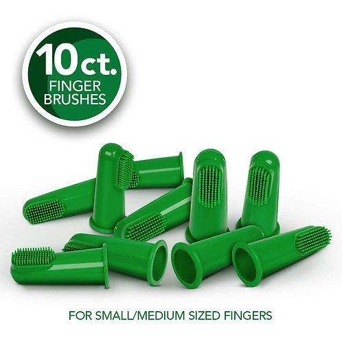silicone finger brushes for dogs & puppies vet's best אצבעוני סילקון לשיניים