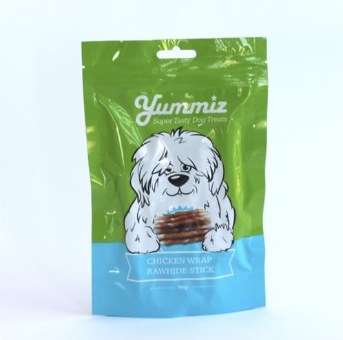 יאמיז חטיף לכלב לעסניות מצופות עוף yummiz chicken wrap