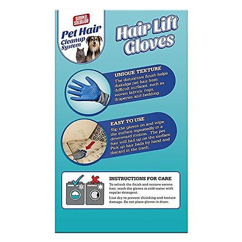 כפפות לטקס להסרת שיער ממשטחים ובדים Pet Hair Cleanup System Hair Lift Gloves