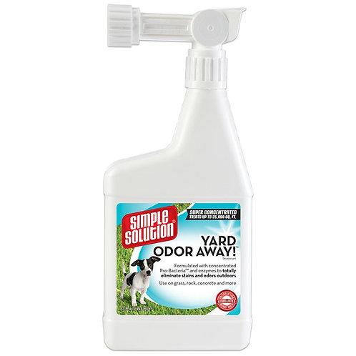 "Simple Solution Yard Odor Away סימפל מנטרל ומנקה ריחות לחצרות הבתים 945 מ""ל"