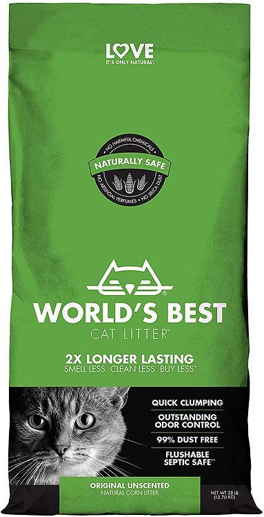 מצע אורגני מתגבש בסיסי לחתולים וורלד בסט ירוק World's Best Cat Litter Green