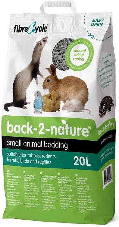 מצע נייר דחוס ואיכותי 20 ליטר למכרסמים וציפורים Back-2-Nature Small Animal