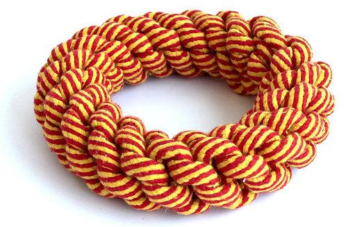 """צעצוע לכלב חבל טבעת דנטלי חזק ואיכותי 18 ס""""מ Dog toy rope ring"""