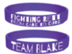 Team Blake Purple Rett Awareness Band