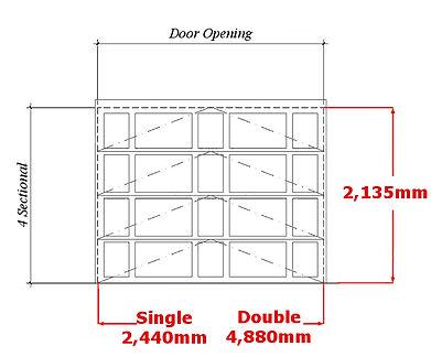 garage door open gap