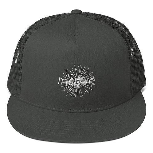 INSPIRE Mesh Back Snapback White Logo
