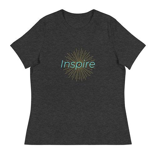 INSPIRE Women's Relaxed T-Shirt Green/Yellow Logo