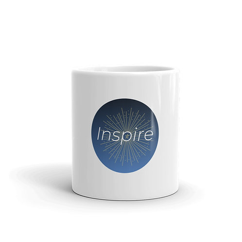 INSPIRE White glossy INSPIRE Logo