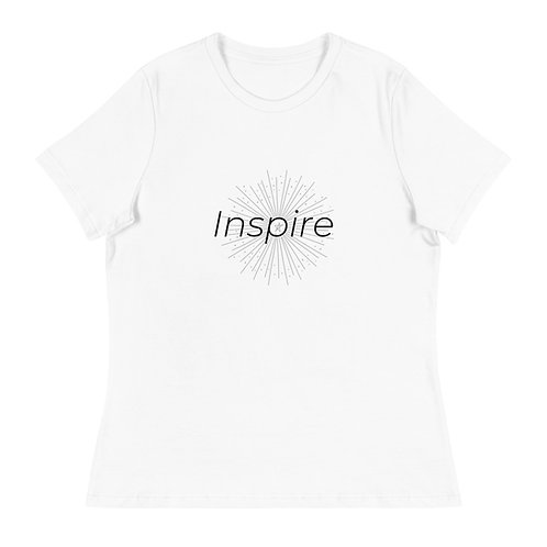 INSPIRE Women's Relaxed T-Shirt Black Logo