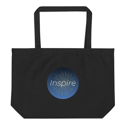 INSPIRE Large organic tote bag INSPIRE Logo