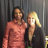 Michelle Phillips with Condoleezza Rice