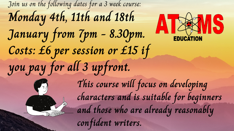Special Offer - January Creative Writing 3 session up front deal