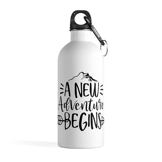 A New Adventure Begins Stainless Steel Water Bottle