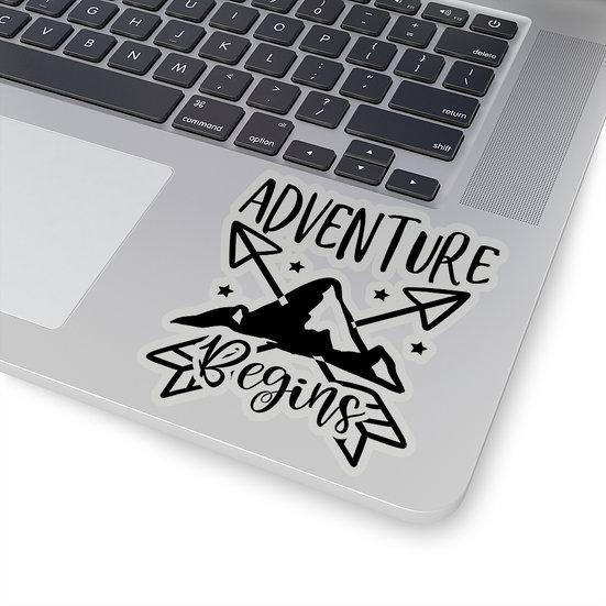 Adventure Begins Kiss-Cut Stickers