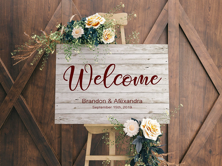 Wedding Welcome Signs Perfect for Greeting Guests On Canvas