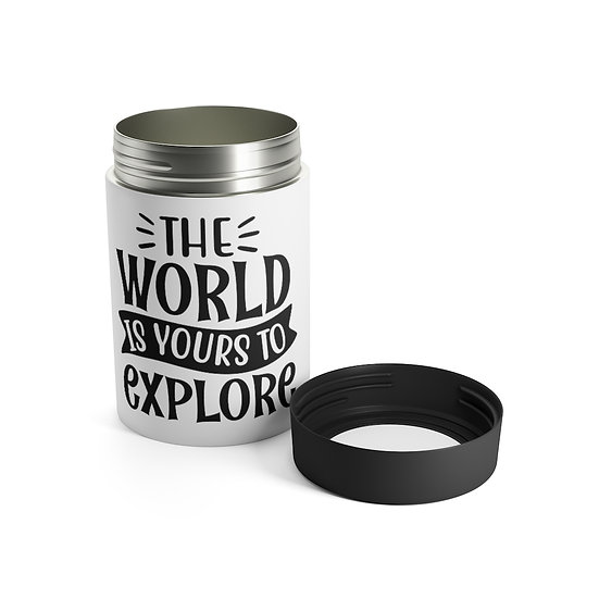 The World Is Yours To Explore Stainless Steel Can Holder
