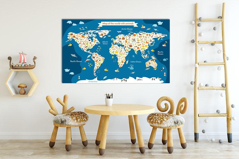 Playroom wall decor ideas, Canvas nursery wall art