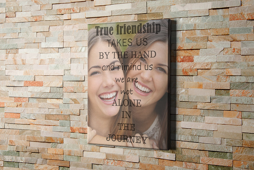 Best Friend Birthday Gifts, Custom Quotes On Canvas