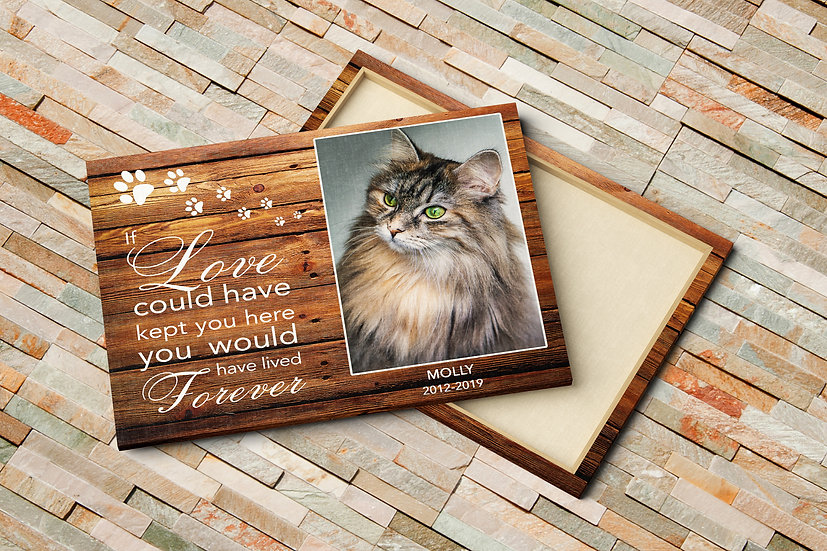 Personalized Pet Quote Print On Canvas With Your Own Pet Photo