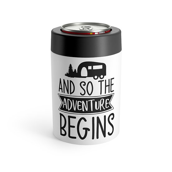 And So The Adventure Begins Stainless Steel Can Holder