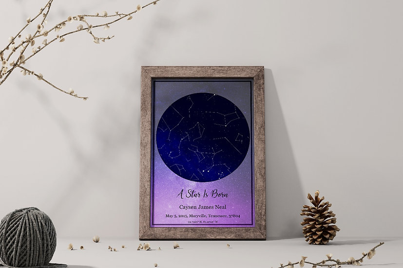 Night Sky Star Map By Date And Location
