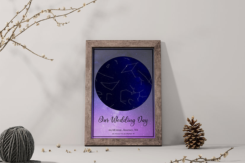 Our First Date Star Map Gift For Boyfriend