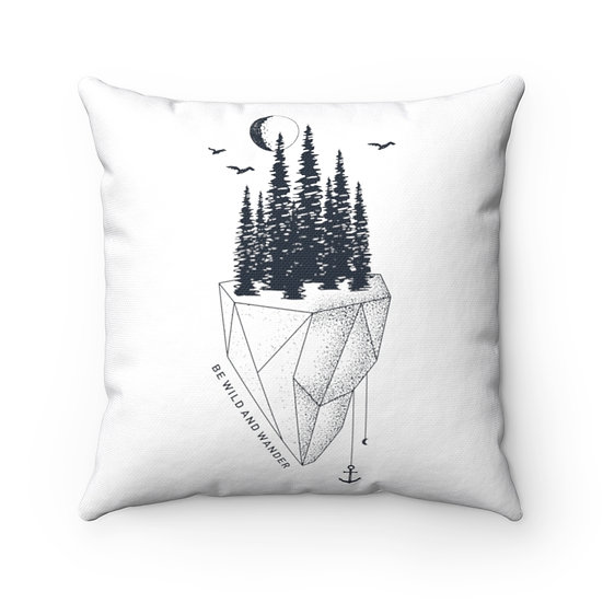 Be Wild And Wander Spun Polyester Square Pillow