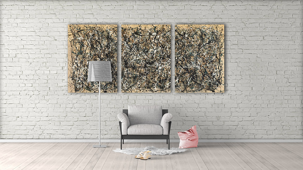 Jackson Pollock No. 31 on canvas, Abstract wall art