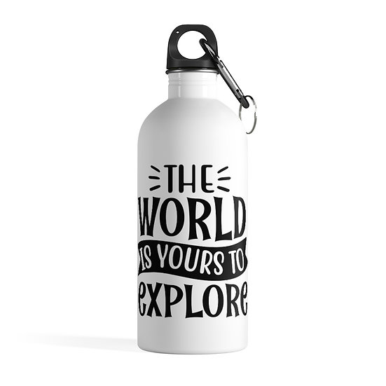 The World Is Your To Explore Stainless Steel Water Bottle