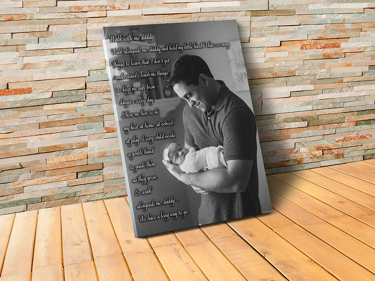 Custom Made Gifts For New Dads, Your Photo And Poem
