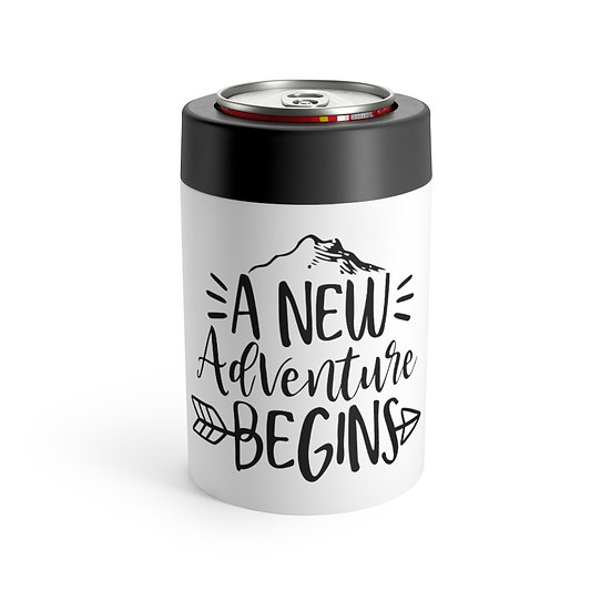 A New Adventure Begins Stainless Steel Can Holder
