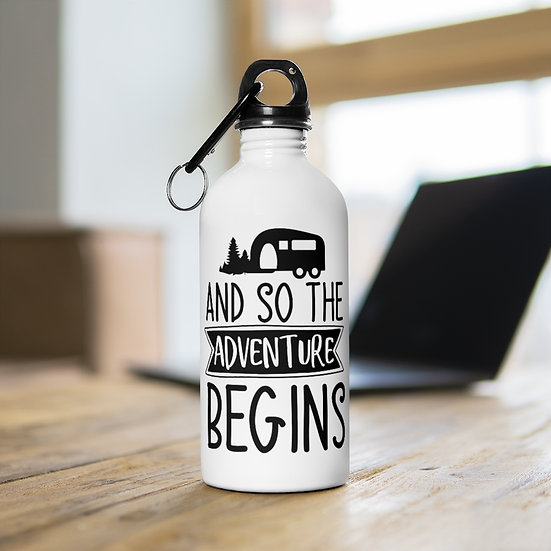 And So The Adventure Begins Stainless Steel Water Bottle
