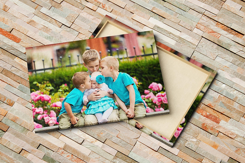 Kids and Baby Canvas Photo Prints, First Time Mom Gift
