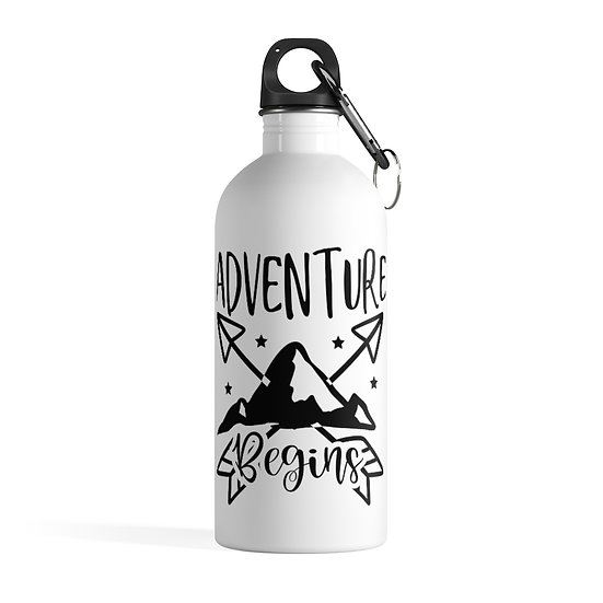 Adventure Begins Stainless Steel Water Bottle